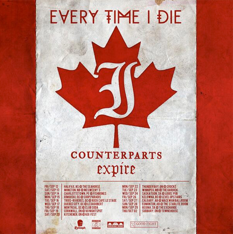 Every Time I Die Take 'From Parts Unknown' on Canadian Tour