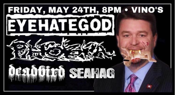 Arkansas Senator Jason Rapert Demands Venue Boycott over Eyehategod Poster That Depicts Him Eating a Baby
