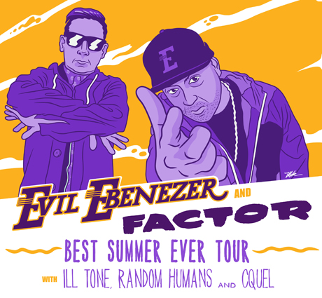 "Factor and Evil Ebenezer Team Up for Canadian Summer Tour, Premiere ""Paul Giamatti"" Video"