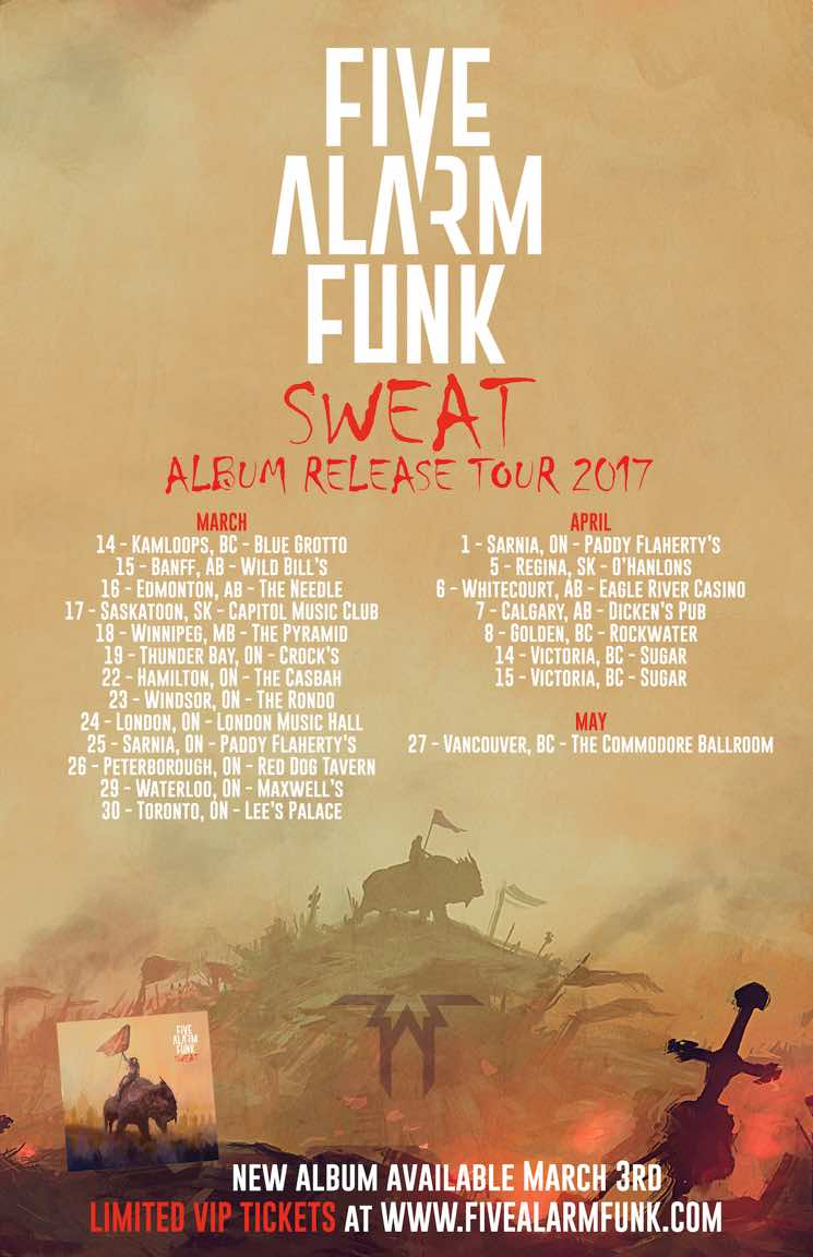 ​Five Alarm Funk Take 'Sweat' on Canadian Tour