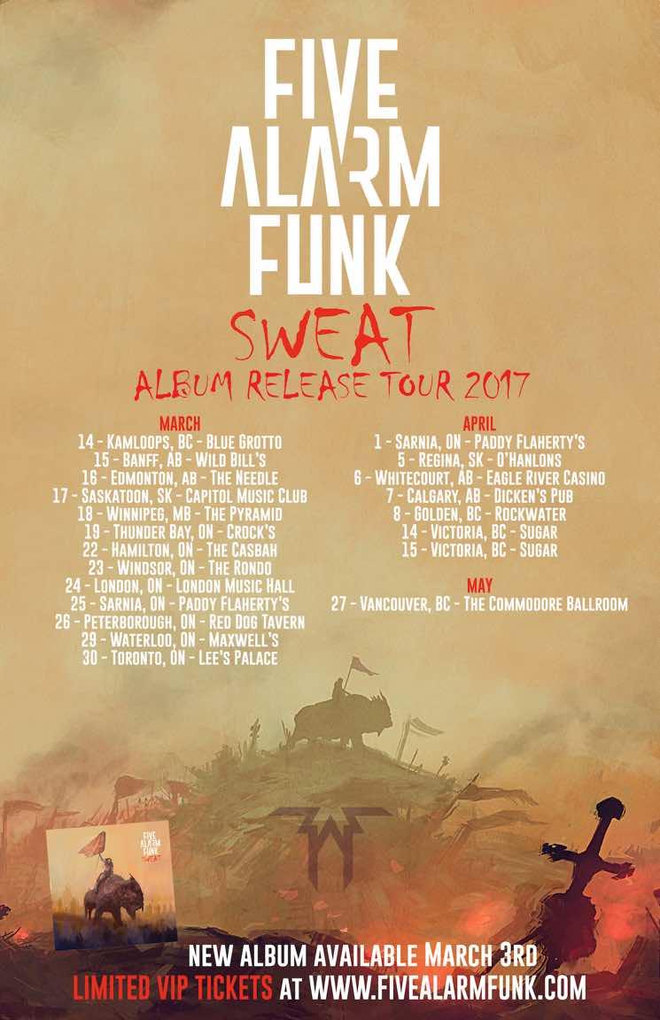 Five Alarm Funk Take 'Sweat' on Canadian Tour