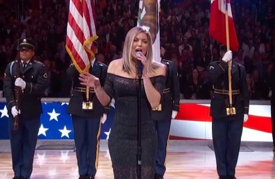 """Fergie Mangled the """"Star Spangled Banner"""" at the NBA All-Star Game"""