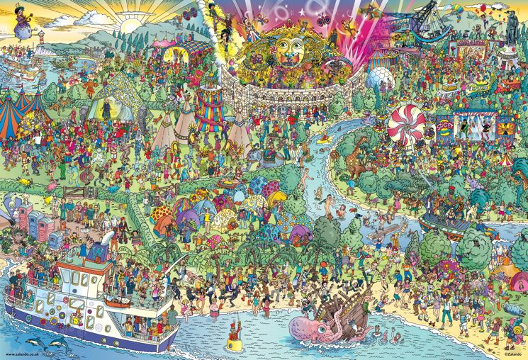 "Find Your Favourite Musicians in This ""Where's Waldo?""-esque Festival Scene"