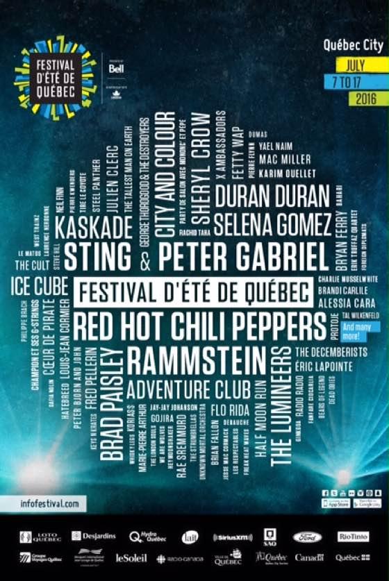 Festival d'été de Quebec Unveils Full 2016 Lineup with Rammstein, Duran Duran, Bryan Ferry, Ice Cube