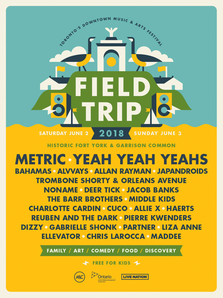 Field Trip Reveals 2018 Lineup with Metric, Yeah Yeah Yeahs, Bahamas