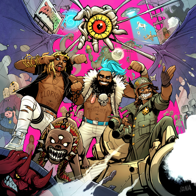 "Flatbush Zombies Detail '3001: A Laced Odyssey', Premiere ""Bounce"""