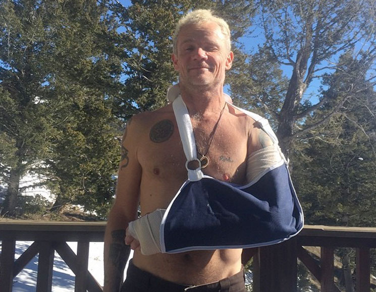 Flea Breaks Arm in Apparent Skiing Accident