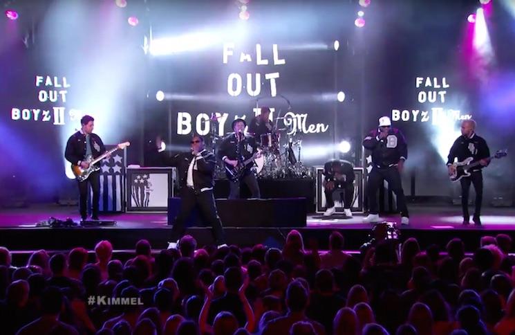 """Fall Out Boyz II Men """"Motownphilly"""" (live on 'Kimmel')"""