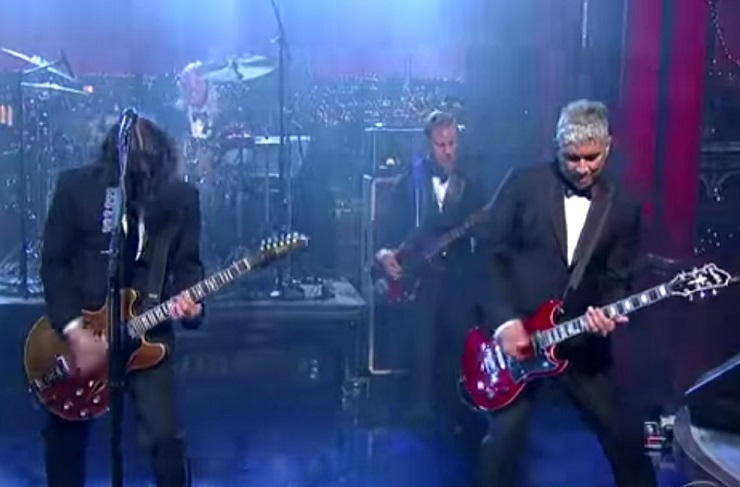 Foo Fighters 'Everlong' (live on 'Letterman')