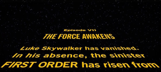Disney Used the Wrong Font for 'Star Wars: The Force Awakens' Opening Crawl