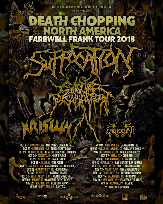 Suffocation Announce Final Tour with Vocalist Frank Mullen