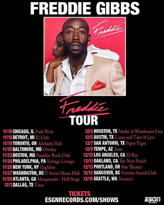 Freddie Gibbs Maps Out North American Tour