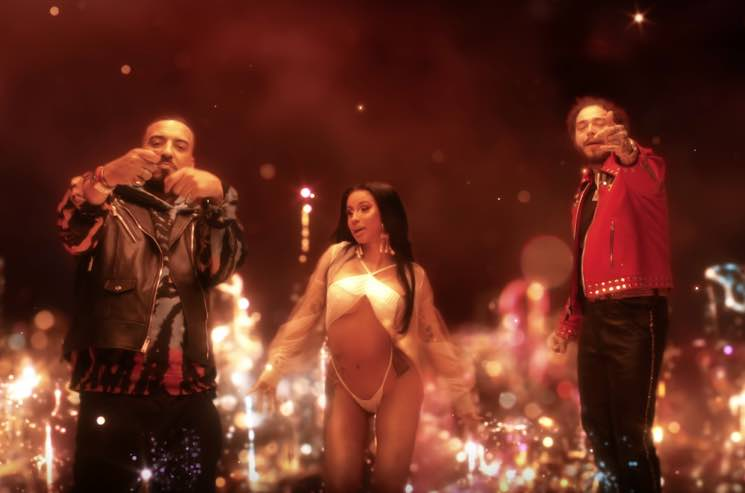"​French Montana Gets Cardi B and Post Malone for ""Writing on the Wall"""