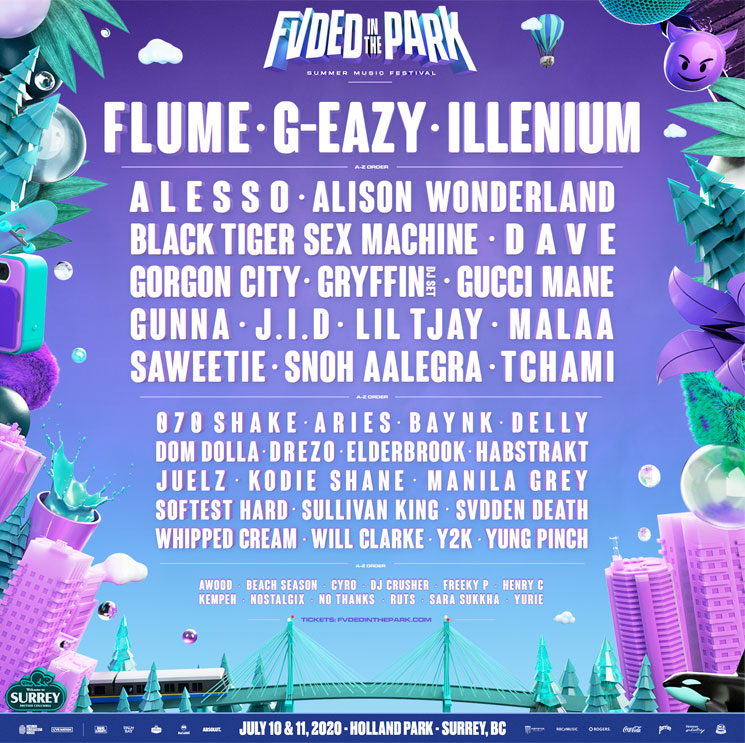 Surrey's FVDED in the Park Unveils 2020 Lineup with Flume, G-Eazy, Illenium