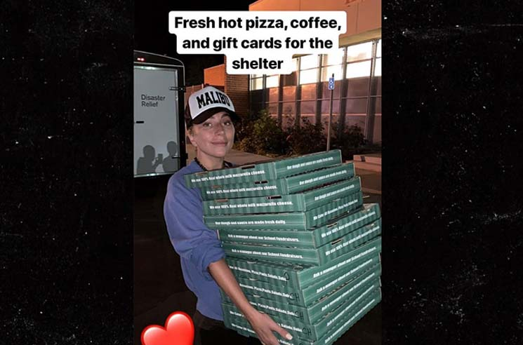 Lady Gaga Delivers Pizza to California Wildfire Evacuees