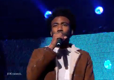 "Childish Gambino ""3005″ / ""Crawl"" (live on 'Kimmel')"