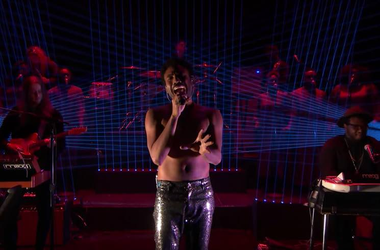 """Childish Gambino Ditches His Shirt and Dons Sparkly Pants to Perform """"Redbone"""" on 'Fallon'"""