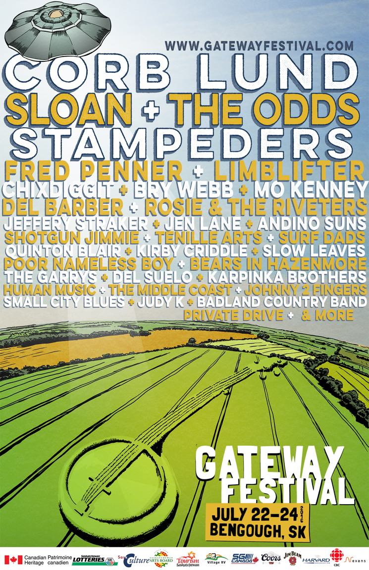 ​Gateway Festival Expands 2016 Lineup with the Odds, Chixdiggit, Mo Kenney