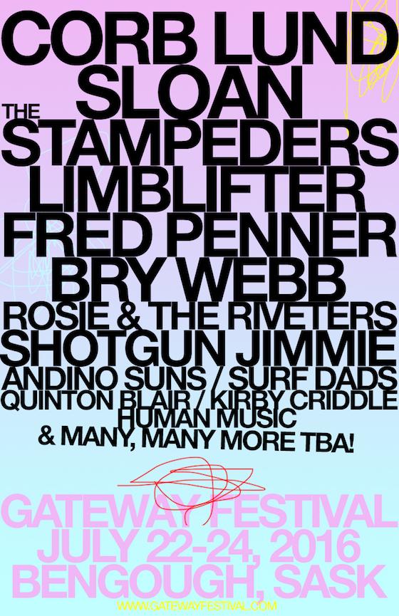Saskatchewan's Gateway Festival Gets Sloan, Corb Lund, Fred Penner
