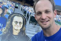 Geddy Lee Cardboard Cutout Attends Blue Jays Game