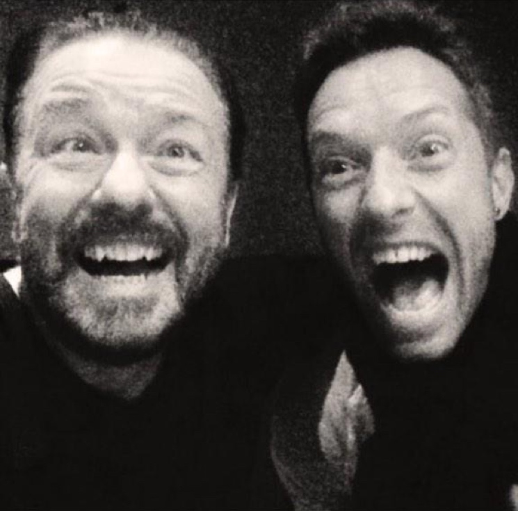 Chris Martin Teams Up with Ricky Gervais for David Brent Project