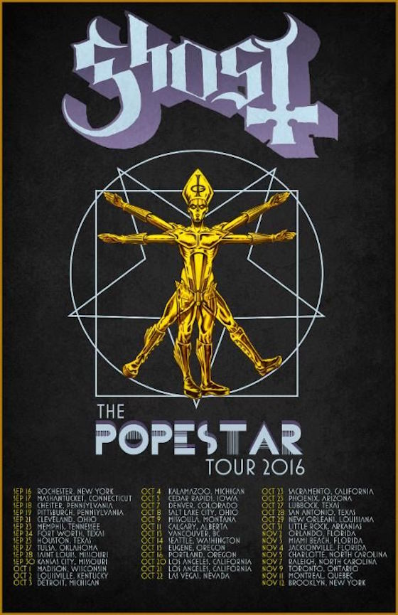 "Ghost Return to Canada on ""Popestar"" Tour"