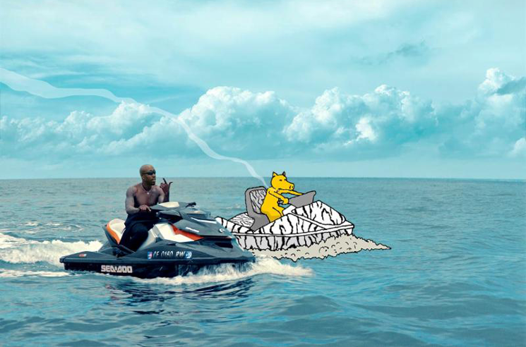 Freddie Gibbs Raps on a Jet Ski in the 'Giannis' Video