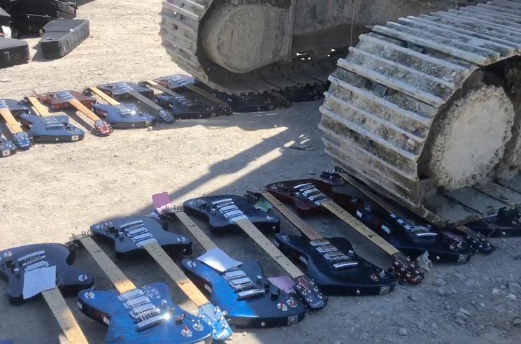 Watch Hundreds of Gibson Firebird Guitars Get Crushed
