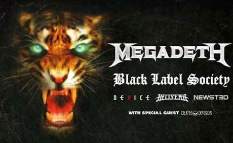 Dave Mustaine's Gigantour 2013 Brings Out Megadeth, Black Label Society, Newsted