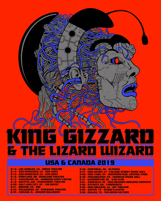 King Gizzard & the Lizard Wizard Plot North American Tour