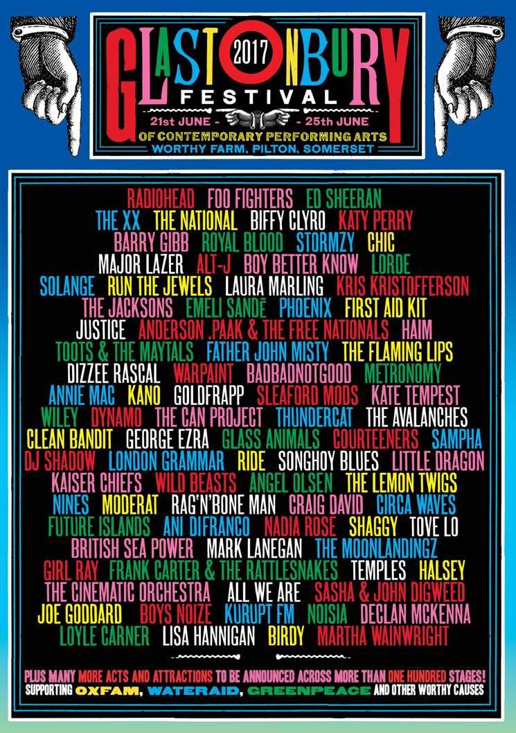 Glastonbury Reveals 2017 Lineup