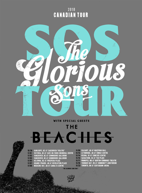 The Glorious Sons Team Up with the Beaches for Fall Canadian Tour