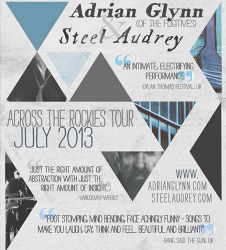 Adrian Glynn and Steel Audrey Team Up for Western Canadian Summer Tour