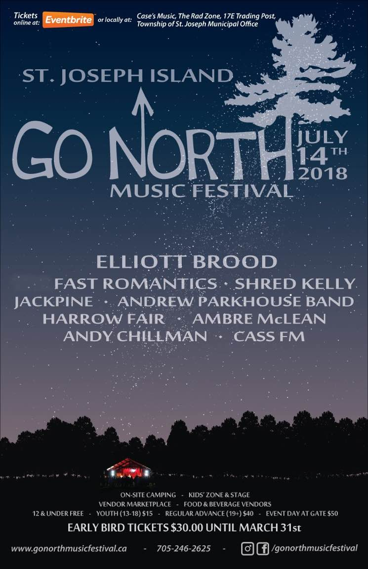Go North Music Festival Gets Elliott Brood, Fast Romantics, Shred Kelly for 2018 Lineup