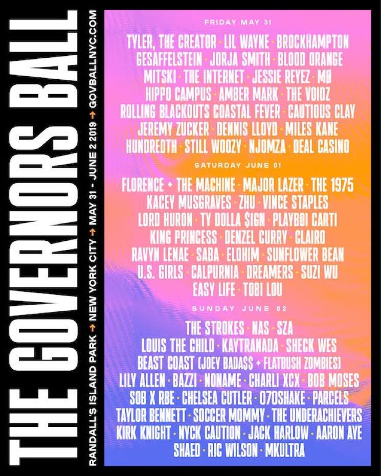 ​The Governors Ball Reveals 2019 Lineup
