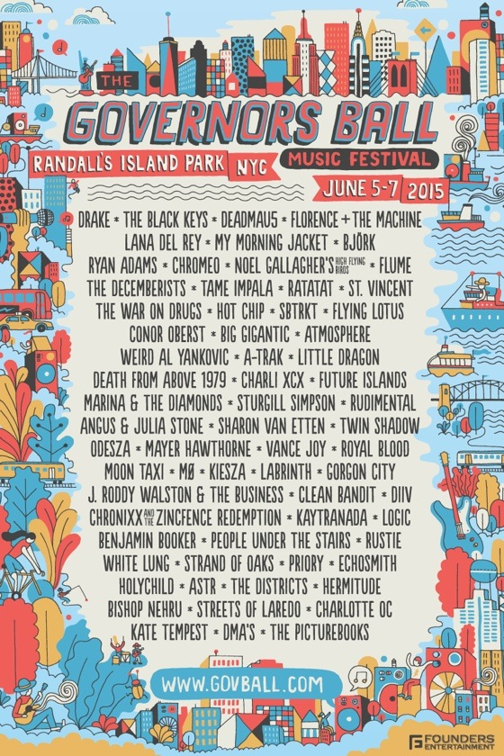 Governors Ball Announces 2015 Lineup