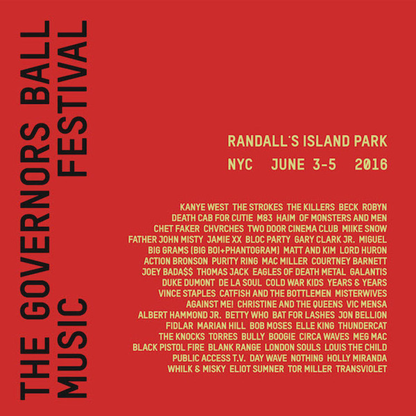 Governors Ball Gets Kanye West, the Strokes, Beck for 2016 Festival