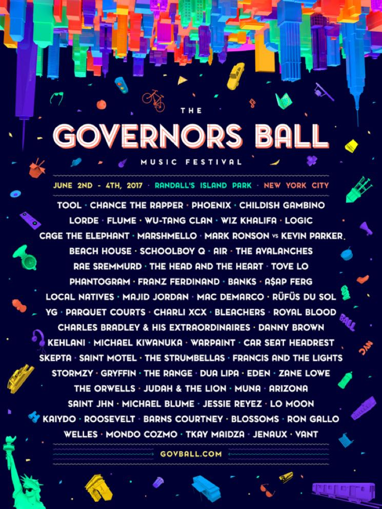 ​Governors Ball Gets Tool, Chance the Rapper, Phoenix for 2017