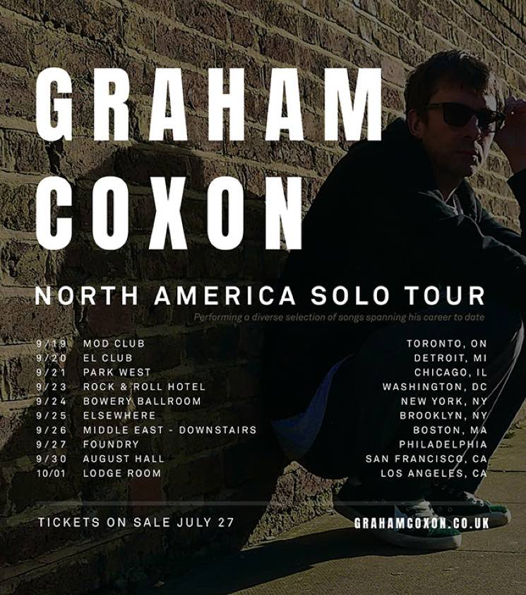 ​Blur's Graham Coxon Plots First-Ever North American Tour