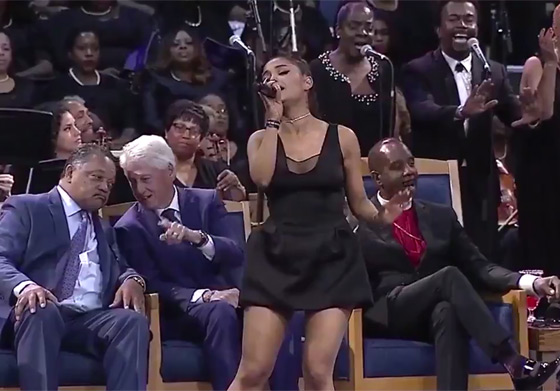 Twitter Has a Lot of Feelings About Ariana Grande's Dress at Aretha Franklin's Funeral