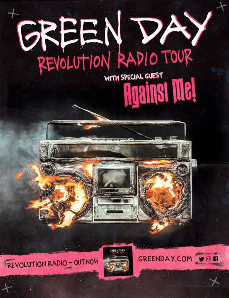 "Green Day Announce ""Revolution Radio Tour"" with Against Me!"