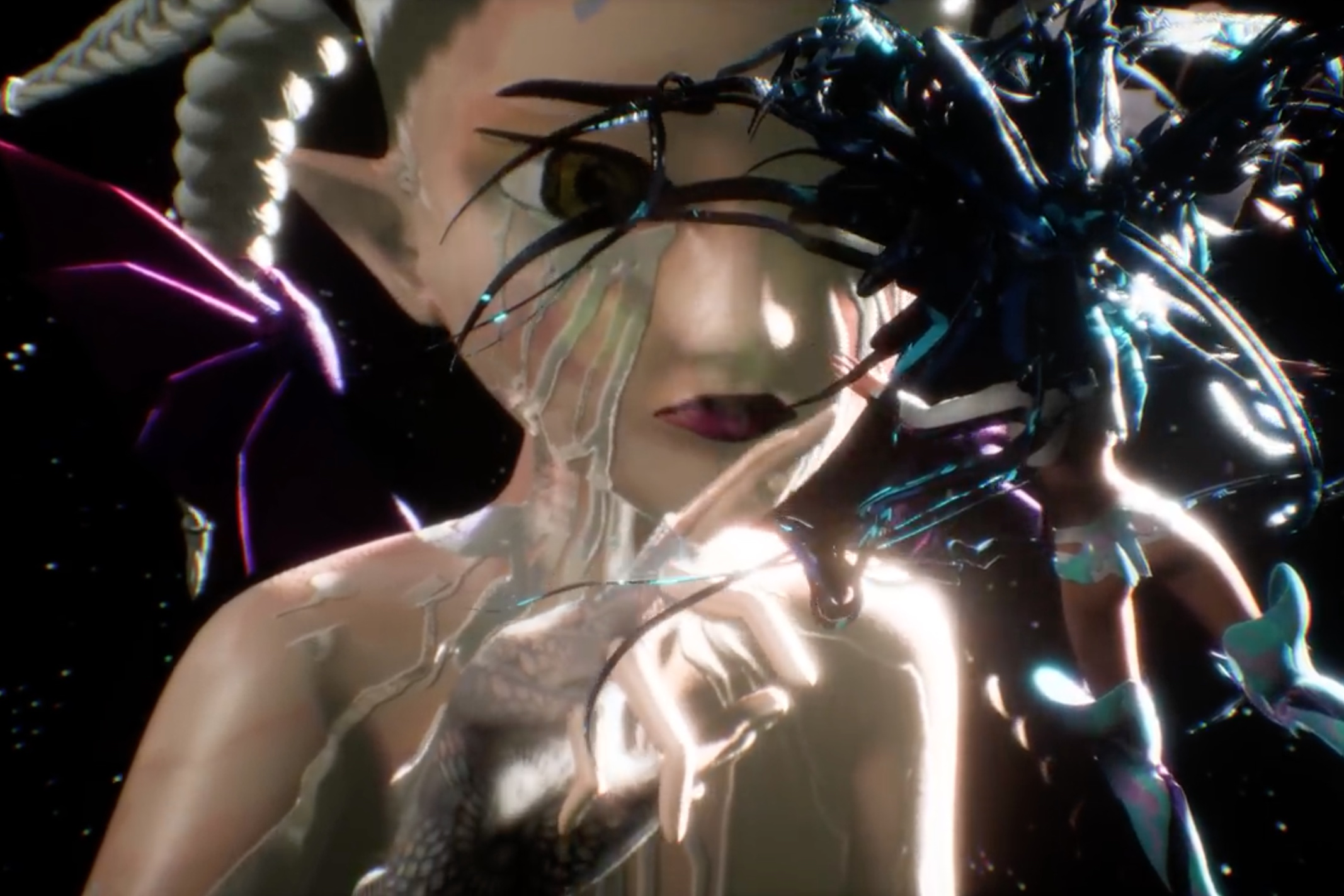 Grimes Becomes an Anime Cyborg in Ashnikko Collaboration 'Cry'