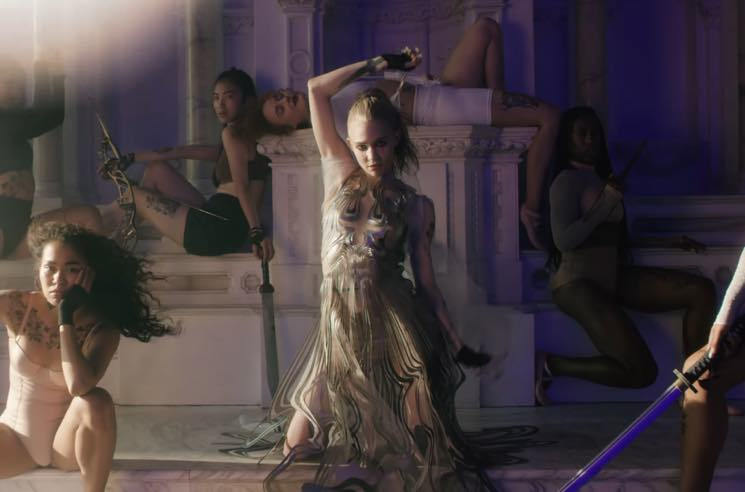 "​Grimes Unleashes New Song and Video ""Violence"""