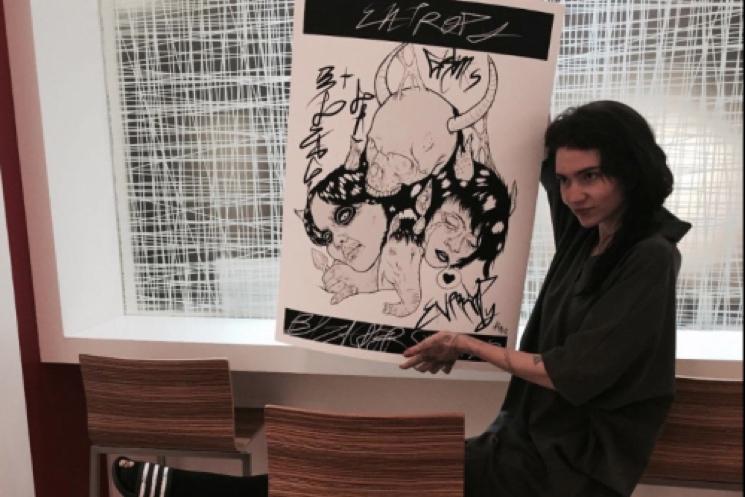 Grimes Auctions Off Original Artwork