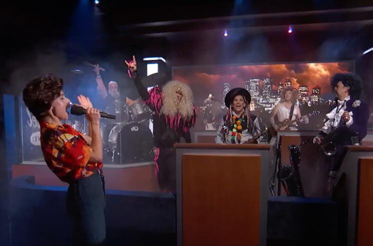 Witness ​Dave Grohl Dress Up as David Letterman and Mash Up Metallica with Disney's 'Frozen'