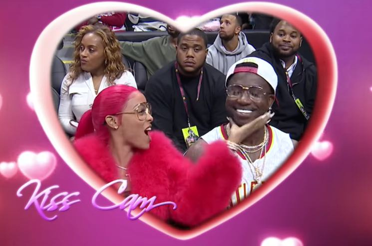 ​Watch Gucci Mane Propose to His Girlfriend on the Kiss Cam at an Atlanta Hawks Game