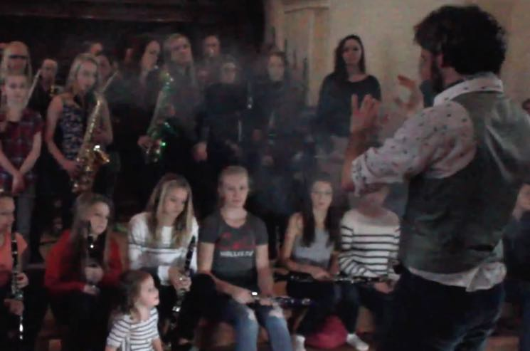 ​Watch the Kids of Flesherton Symphony Orchestra Cover Human Highway