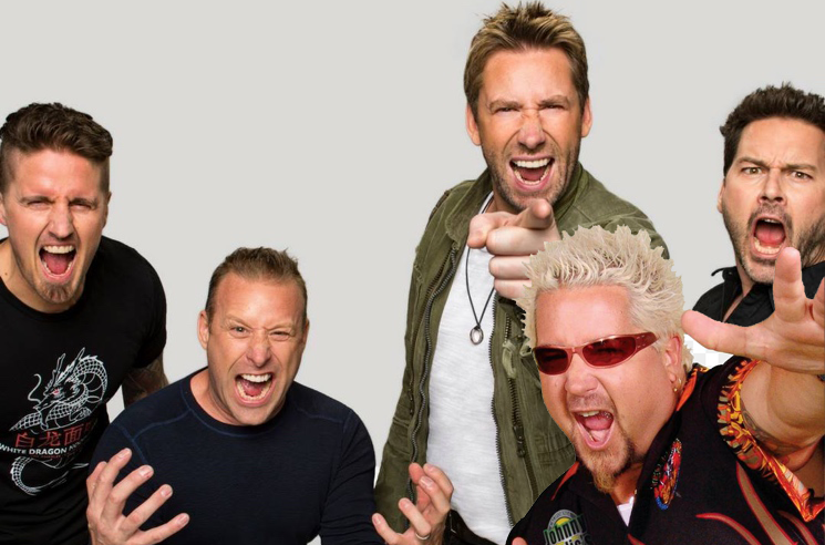 Guy Fieri's Long Weekend Included a Nickelback Concert in Quebec