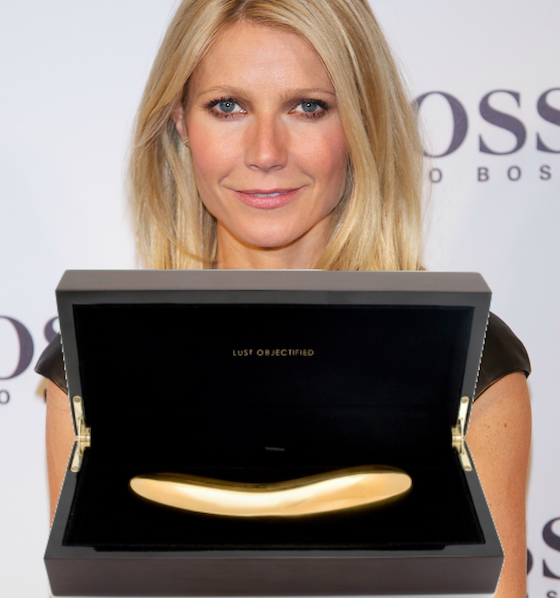 WTF: Gwyneth Paltrow Is Selling an $18,000 Gold Dildo on Her Website
