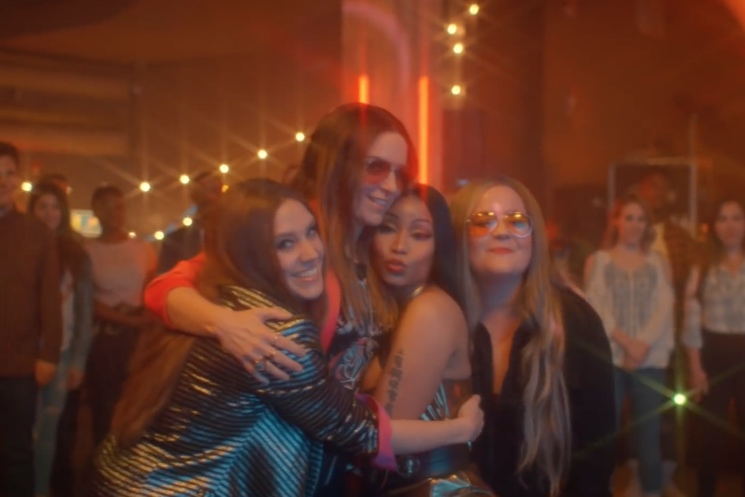 HAIM Flip Out over 'SNL' Parody with Nicki Minaj